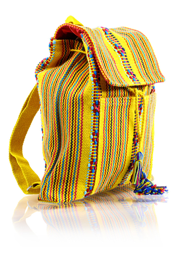 Waist Loom Yellow Beige HandMade Backpack BAGS & POUCHES