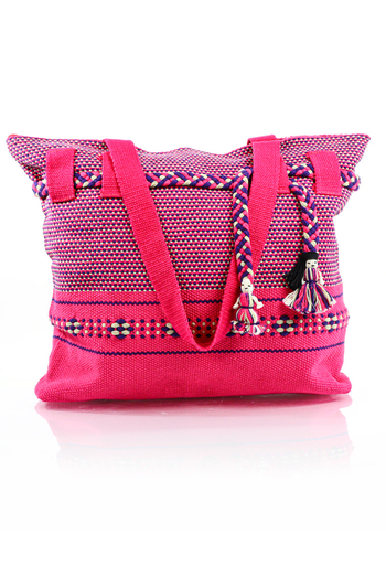 Artisan Made Pink Waist Loom Handbag BAGS & POUCHES