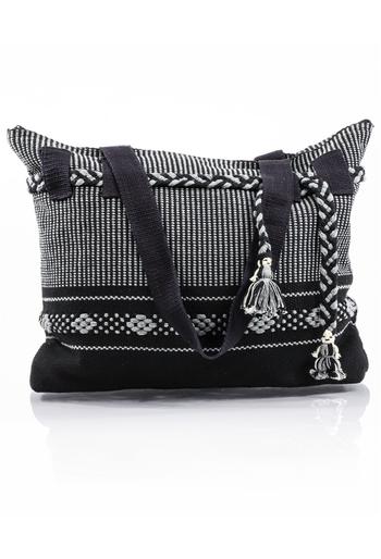 Artisan Made Black Waist Loom Handbag BAGS & POUCHES