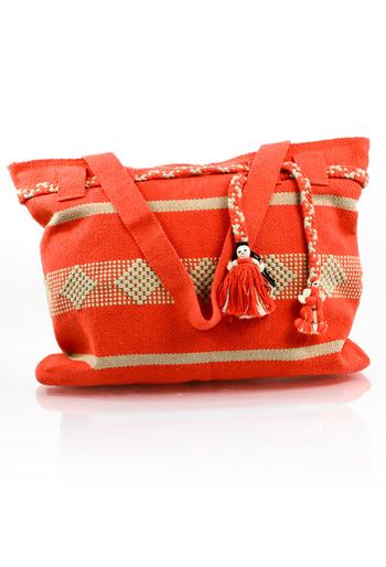 Artisan Made Pink Orange Waist Loom Handbag BAGS & POUCHES
