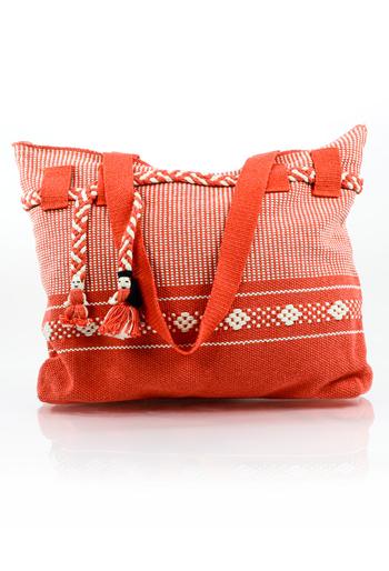 Handmade Red Waist Loom Handbag BAGS & POUCHES