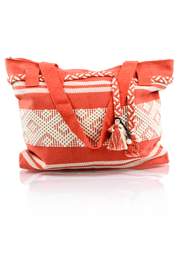 Artisan Made Orange Waist Loom Handbag BAGS & POUCHES