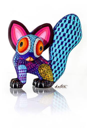 Tarsier Alebrije Hand Carved Wood / Hand Painted Mexican Tarsier ALEBRIJES - CARVED PIECES