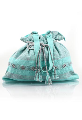 Hermoso Bolso Color Aqua de Telar BOLSAS & CARTERAS
