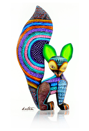Amazing Carved Wood Hand Painted Squirrel Alebrije ALEBRIJES - CARVED PIECES