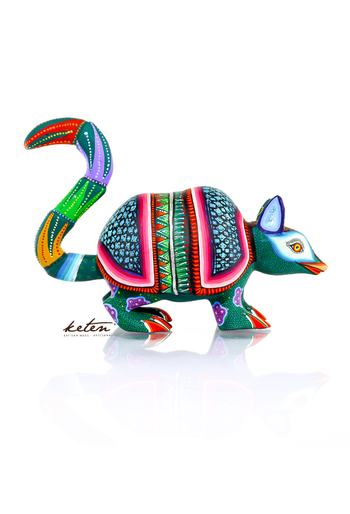 Carved Wood Hand Painted Armadillo Alebrije ALEBRIJES - CARVED PIECES
