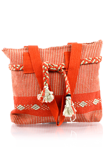 Handmade Orange Pink Waist Loom Handbag BAGS & POUCHES