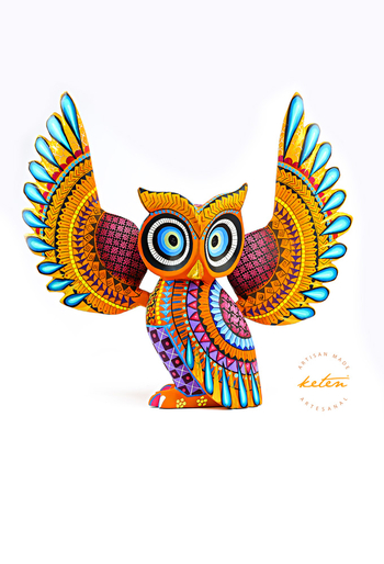 Owl Alebrije Hand Carved Wood / Hand Painted Mexican Owl ALEBRIJES - CARVED PIECES