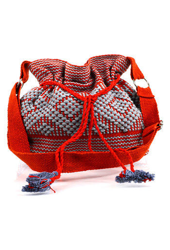 Handmade Red Color Waist Loom Handbag BAGS & POUCHES