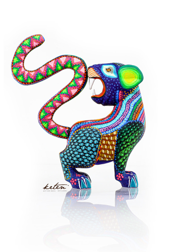 Baby Jaguar Alebrije Hand Carved Wood Hand Painted ALEBRIJES - CARVED PIECES