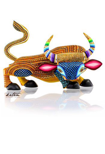 Bull Alebrije Hand Carved Wood Hand Painted ALEBRIJES - CARVED PIECES