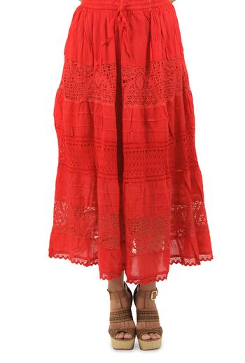 Falda Roja de Algodón FALDAS