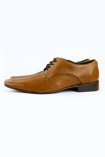 100% Leather Handmade Shoes, Tan SHOES FOR MEN