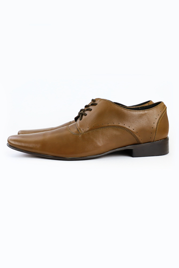 Brown Leather Handmande Oxford Shoes SHOES FOR MEN