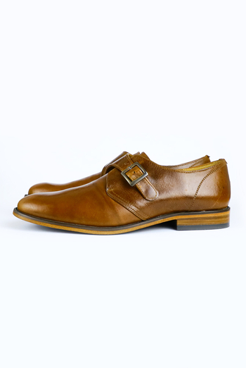 Zapatos de Piel Color Miel Para Caballero ZAPATOS