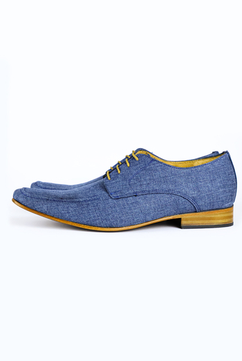 Linen Shoes Navy Blue SHOES FOR MEN