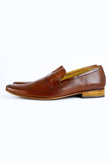 Brown Color Leather Shoes For Men MEN
