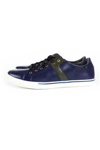 Navy Blue With Black Shoes SHOES FOR MEN
