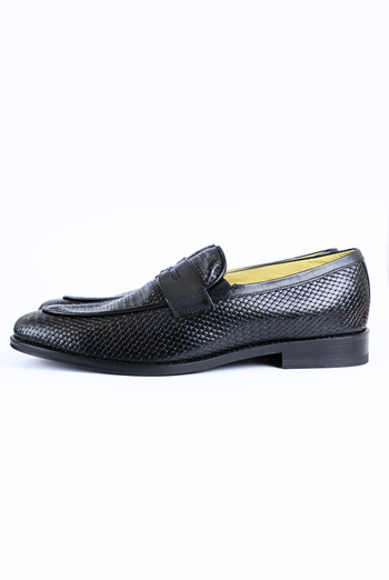 Black Genuine Leather Shoes For Men SHOES FOR MEN