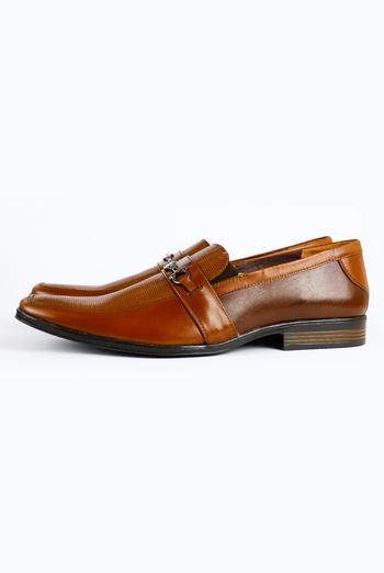Zapatos de Piel Color Cafe Para Hombre ZAPATOS
