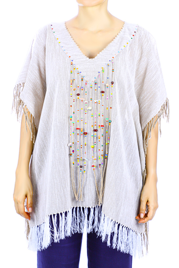Handmade Mexican Women's Linen Handmade Crochet Top WOMEN