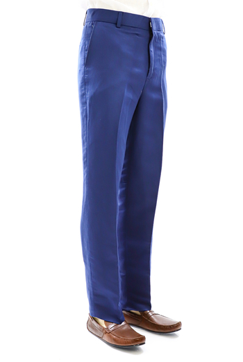Pantalon de Lino Natural Color Azul Marino PANTALONES