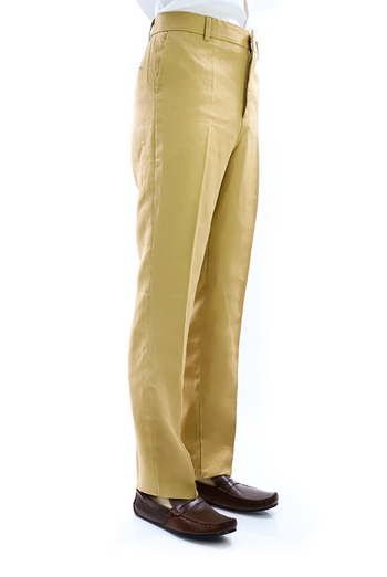 Regular Fit Gold Linen Pants TROUSERS