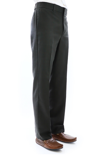 Black Natural Pique Linen Pants for Men TROUSERS