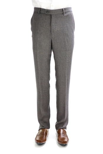 Light Gray Natural Pique Linen Pants for Men TROUSERS