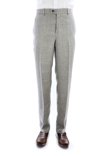 Dark Gray Natural Pique Linen Pants for Men TROUSERS