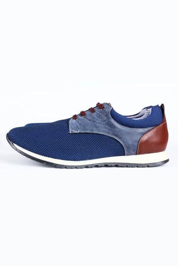 Blue Color Casual Tenis Shoes For Men SHOES FOR MEN