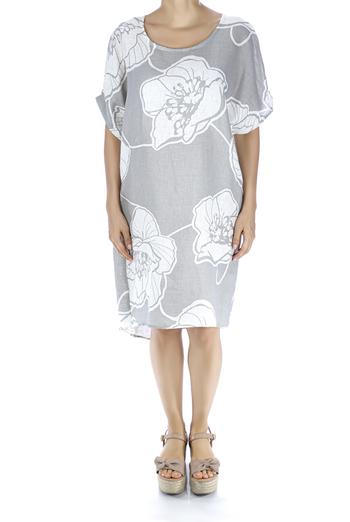 Printed Linen Relax Dress DRESSES