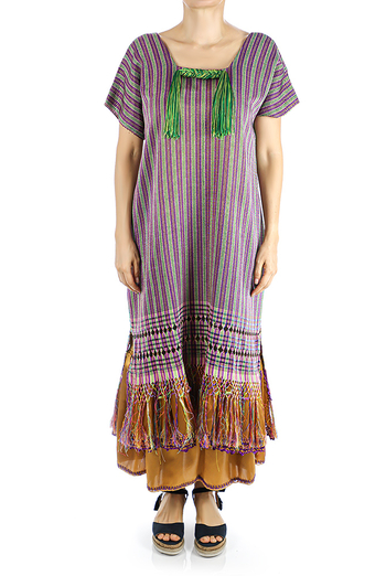 Traditional Mexican Handmade Colorful Rebozo Dress Handmade WOMEN