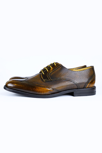 Brown Color Leather Shoes For Men Keten Exclusive MEN