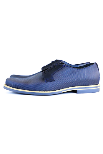 Leather Shoes Navy Blue SHOES FOR MEN