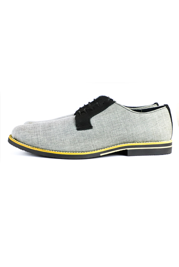 Light Gray Curry Leather Shoes SHOES FOR MEN