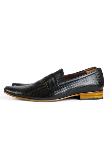 Black Color Leather Shoes For Men MEN