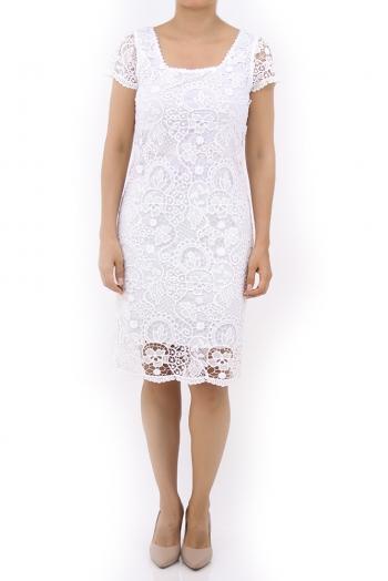 Vestido con Encaje Blanco VESTIDOS