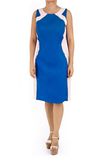 Beautiful Linen Dress 100% in Royal Blue DRESSES