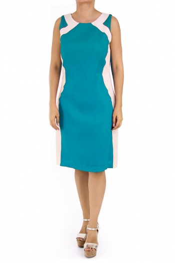 Beautiful Linen Dress 100% in Emerald Green DRESSES