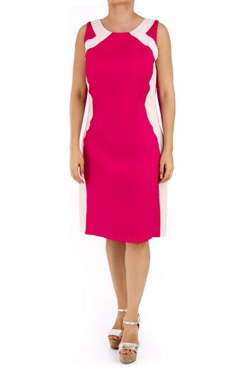 Beautiful Linen Dress 100% in Fucshia Color DRESSES
