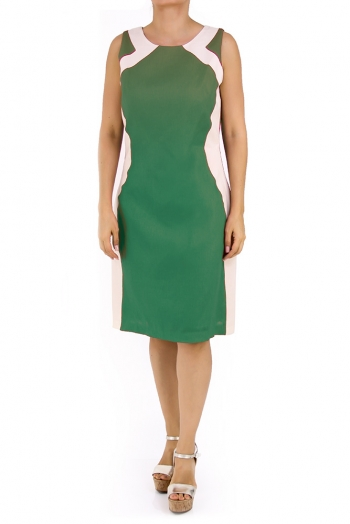 Beautiful Linen Dress 100% in Jade Green DRESSES