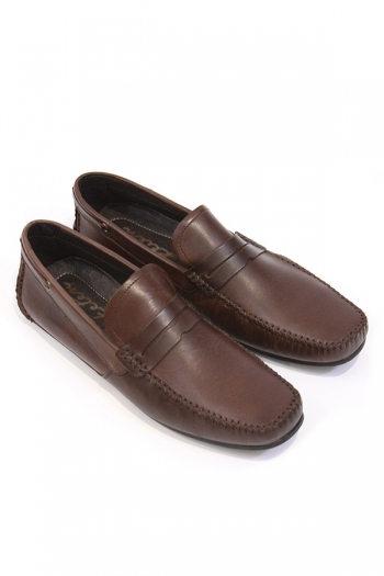Handmade Leather Penny Loafers, Brown SHOES