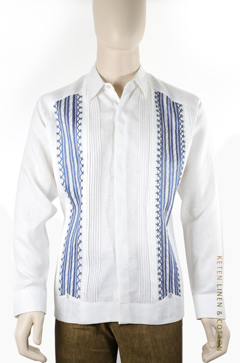 Hand Embroidered Exclusive Linen Guayabera Shirt GUAYABERAS