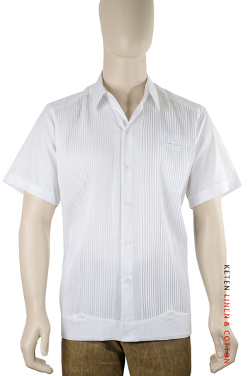 Short-sleeved Presidential Cotton Guayabera GUAYABERAS