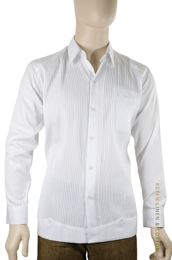 Long-sleeved Presidential Cotton Guayabera GUAYABERAS
