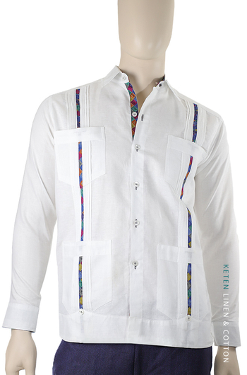 Diplomatic Guayabera Called Chazarilla 4 Pockets GUAYABERAS