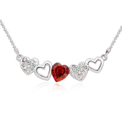 Pretty Swarovski Hearts Necklace JEWELRY