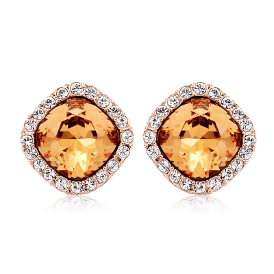 Precious Swarovski Earrings in Yellow JEWELRY