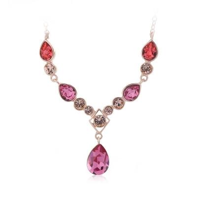 Swarovski Crystal Necklace in Pink JEWELRY